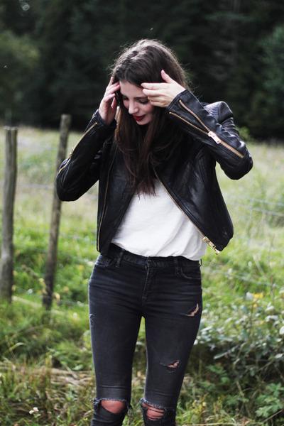 black Nilson boots - black ripped hudson jeans jeans