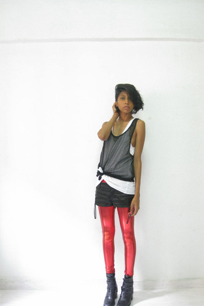 aa top - Zara top - Chinatown leggings - shoes