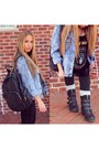 Black-aldo-boots-sky-blue-denim-forever-21-jacket-black-bcbg-leggings