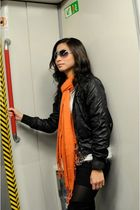 white Pink Manila top - black People R People jacket - orange Terranova scarf -