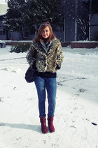 red cowboy Charlotte Russe boots - Rue 21 jacket