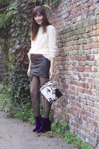 asos boots - new look bag - asos skirt - Marc by Marc Jacobs watch