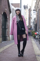 H&M bag - vagabond shoes - vintage dress - Marks & Spencers coat - H&M hat
