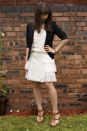 Oasis blazer - asos dress - asos shoes