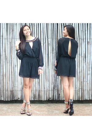 ibiza zoo heels - black Topshop romper