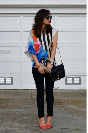 Zara t-shirt - Forever 21 jeans - Rebecca Minkoff bag