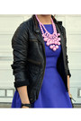 Faux-leather-unknown-brand-jacket-zara-dress-polka-dot-jcrew-tights