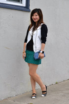 Zara vest - Steve Madden shoes - H&M sweater - Zara skirt