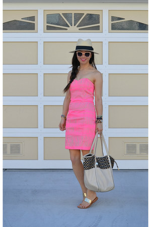 H&M dress - H&M hat - big buddha bag - Dolce Vita sandals