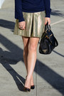 Navy-forever-21-sweater-prada-bag-gold-brocade-club-monaco-skirt
