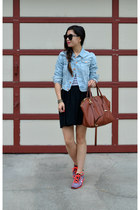 denim H&M jacket - 31 Phillip Lim x Target bag - American Apparel skirt