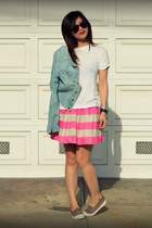 H&M skirt - Bensimon shoes - H&M jacket - Gap t-shirt