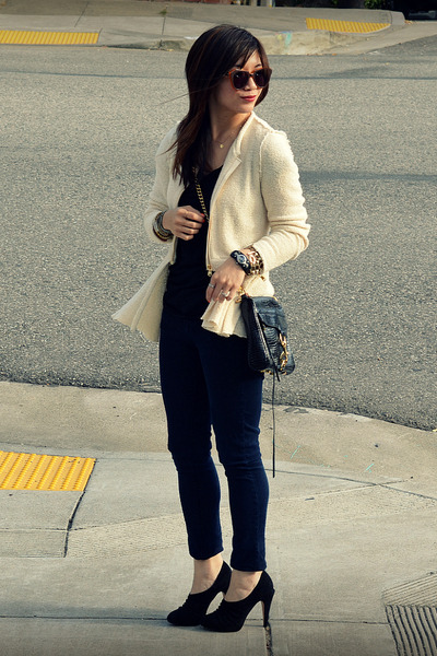 Max Studio heels - Paige jeans - Zara jacket - Rebecca Minkoff bag