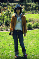 H&M blazer - American Eagle jeans - Ruehl sweater - Urban Outfitters sneakers