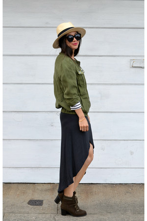 panama H&M hat - Old Navy boots - Zara dress - H&M jacket