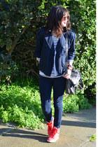 Paige jeans - calvin klein jacket - H&M shirt - foley & corinna bag