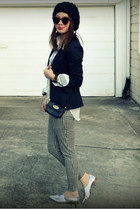 H&M pants - H&M blazer - H&M shirt - Zara loafers