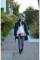 H&M coat - Ross boots - Forever 21 jeans - beanie H&M hat - H&M bag