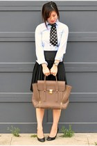 31 Phillip Lim bag - unknown shoes - H&M shirt - JCrew tie - BCBG skirt