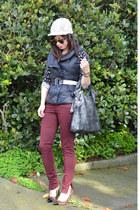 H&M hat - Zara jeans - foley & corinna bag - leopard Loft heels - H&M top