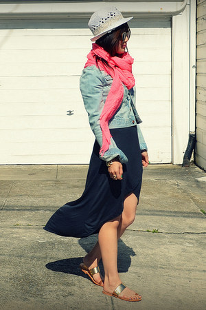 Zara scarf - Zara dress - H&M hat - H&M jacket - Dolce Vita sandals