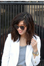 White-zara-blazer-grey-forever-21-t-shirt-sequin-h-m-skirt