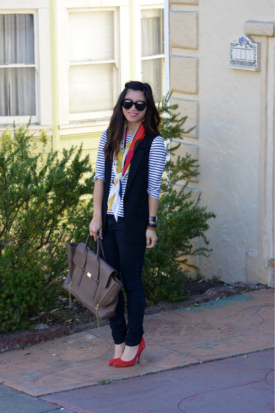 stripe H&M shirt - Forever 21 jeans - 31 Phillip Lim x Target scarf