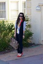 stripe H&M shirt - Forever 21 jeans - 31 Phillip Lim x Target scarf