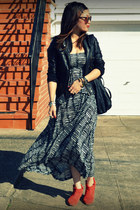 H&M dress - Joie boots - unknown jacket - H&M bag