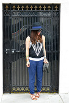 Forever 21 hat - foley & corinna bag - H&M sandals - diamond Forever 21 top