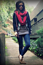 Steve Madden flats - dress as top f21 dress - H&M jacket - JCrew cardigan