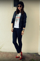 Gap heels - unknown jacket - random shirt - H&M pants