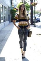 candy stripe Chloe top - daisy Patrik Ervell jeans - Celine bag