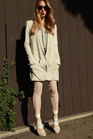 Tsumori Chisato socks - acne blazer - Therese Rawsthorne tights
