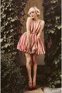 red candy striped dress