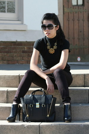 black Michael Kors boots - black 31 Phillip Lim bag - black Chanel sunglasses