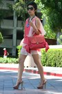 Bubble-gum-dress-coral-z-spoke-bag-black-chanel-sunglasses