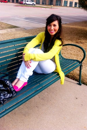neon Express sweater - skinny jeans Target jeans - Marc by Marc Jacobs bag