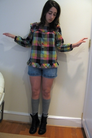 Marc by Marc Jacobs shirt - H&M shorts - socks - gift boots - necklace