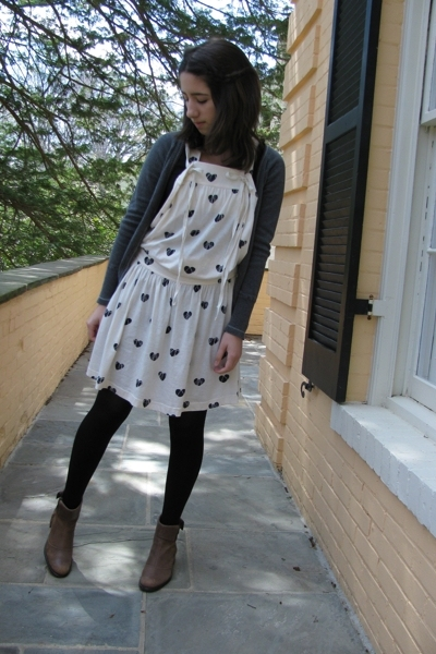 Marc by Marc Jacobs dress - H&amp;M t-shirt - Zara sweater - boots