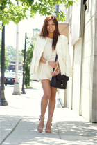 white TKO watch - cream Zara blazer - silver Marc by Marc Jacobs bag