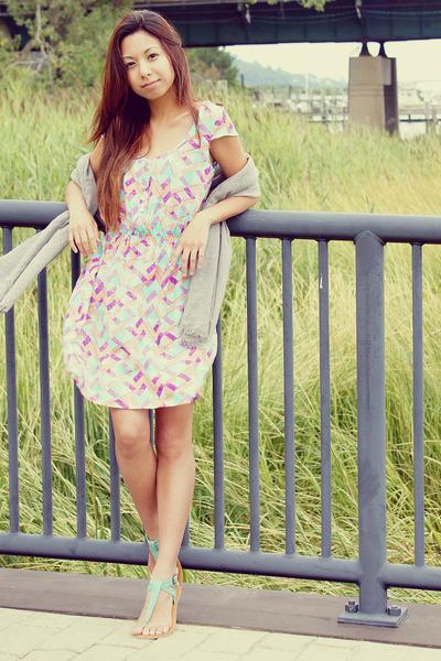 pastel Charlotte Russe dress - comfy Charlotte Russe scarf