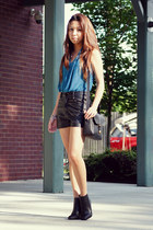 studded trinity place shorts - Forever 21 boots - Marc by Marc Jacobs bag