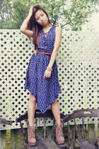 navy Sugarlips dress - tan Forever 21 boots