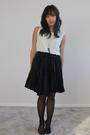 Black-via-max-skirt-vintage-blouse-black-stockings