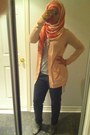 Heather-gray-boots-pink-scarf-light-pink-cardigan-heather-gray-top