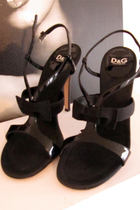 black D&G shoes