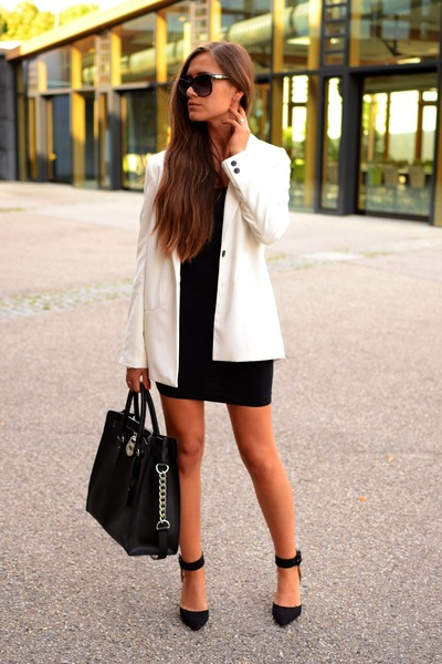 Michael Kors bag - Zara dress - pull&bear blazer - Zara heels