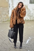 H&M boots - H&M coat - Zara bag - Zara pants