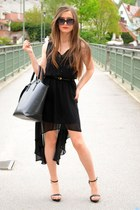 pull&bear dress - Zara bag - Zara heels